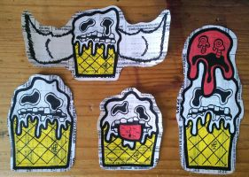 Graffiti Stickers #10 - Ice Creams by TNH-Ed-Hill