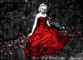 In A Red Dress And Alone by noizkrew