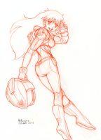 Sailor Sun spacesuit sketch by RedShoulder