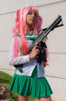 Saya Takagi from High School of the Dead by Leuxdeluxe