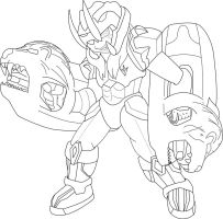 Fafnir Starforce Line art by ShadowFox777