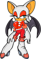 rouge the bat the bat christmas by ElodieTheFox051400