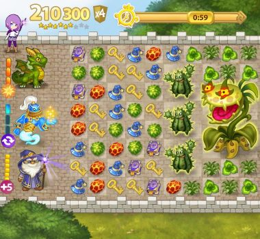 Interface mockup for Fantasy match3 game 2013 by Lasandro
