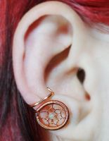 Dream Catcher Ear Cuff by sylva
