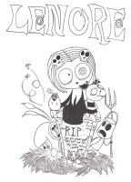 Lenore-black and white by Piddies0709