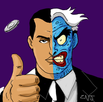Two Face for Draw Something 2 by zachjacobs