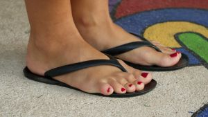Beautiful Toes in Crimson by Feetatjoes