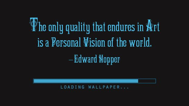 Edward Hopper Quote by RSeer