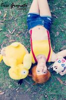 Misty, Psyduck and Togepi by CrisGranatoCosplay