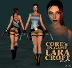 Core's In-Game Lara Croft Remade Model for XPS by FearEffectInferno