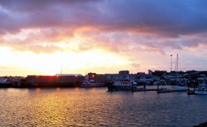 Sunset by the Harbor. by chivt800