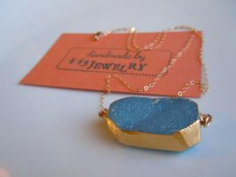 Blue Druzy Necklace by 443Jewelry