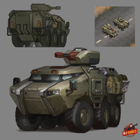 Under Control. Armoured personnel carrier concept by funzee