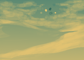 Sand and sky wip by CyanLights