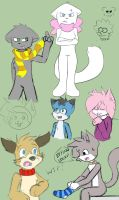 Series of sketches by Born2Lose12