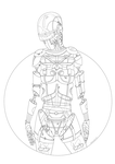 Robot: vector colouring book by LineBirgitte