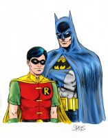 Batman and Robin by markman777