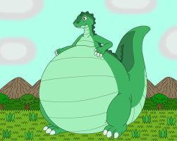 Liposaurus the bigger belly dinosaur by MCsaurus