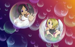 Double Bubble - AJ n' Angelo by Wazaga