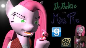 Dr Pinkie and Miss Pie SFM-Gmod ponies by LunarGuardWhoof