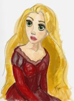 holiday Rapunzel by untroubledheart