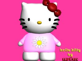 hello kitty 3d by christ139