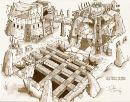 Orc Wolf Buildings by CandyWarlock
