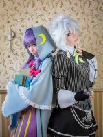 Sakuya Izayoi and Patchouli Knowledge by lina-no-uta