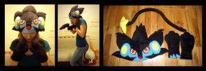 Luxray Set - Commission by fireflytwinkletoes