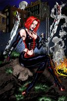 BloodRayne in the night by benzod32