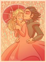 A Rose and a kiss... by StressedJenny