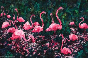 Flamingo Nebula by josh-mann