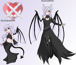 Succubusmon and Succiusmon redesign 2015 by HeroHeart001