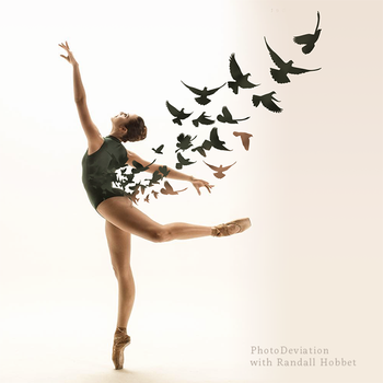 Ballerina and Birds by PhotoDeviation