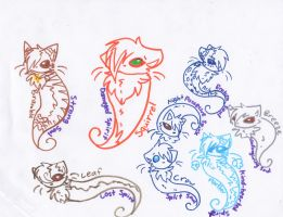 Lots of dem Spirit Cats! =3 by Snowstorm102