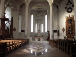 St Roch church - interior by kwizar