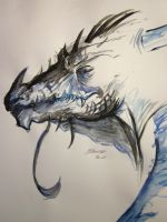 Watercolor dragon by SunsetDragonfly