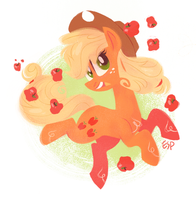 apples everywhere by spacekitsch
