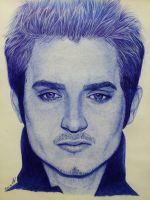 Elijah Wood .Ballpoint pen. by valakh