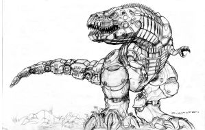 Black Market Robot Trex by ChuckWalton
