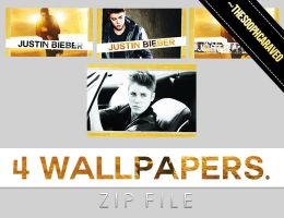 4 Justin Bieber's Wallpapers. BELIEVE. ZIP. by TheSoophCaraveo