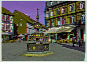 Historical Well in Wernigerode ::: 3D-DRi Anaglyph by zour