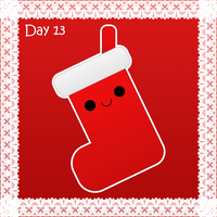 Christmas day 13: christmas stocking by to-much-a-thing