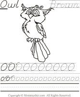 Mommysbiz | O-Owl-Brown Preschool Worksheet by DanaHaynes