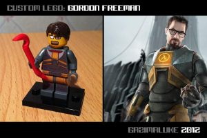Lego Gordon Freeman by Gazimaluke