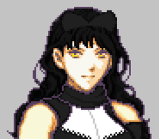 RWBY Black pixel by Ronku