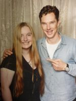 Me and Benedict Cumberbatch!!! by Mauling-Savage-Sith