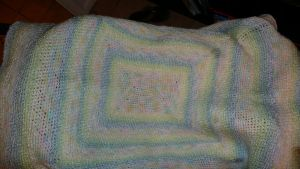 Crochet Baby Blanket by Eviecats