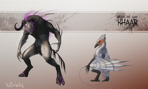 rise of the Khaar - Requested Bull and Raven by GaiasAngel