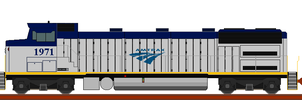 fictional GE genset for amtrak by wolvesone